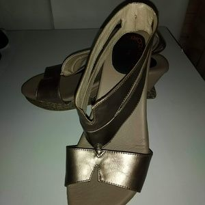 Shoes - Cole Haan Silver Open Toe Sandals